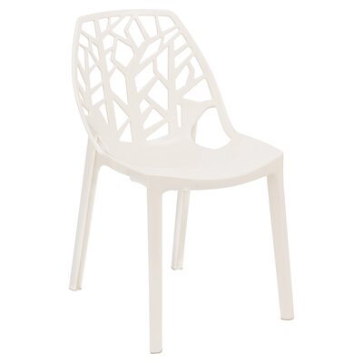 Kimonte Contemporary Side Chair Finish: Transparent White