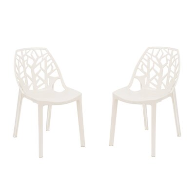 Kimonte Solid Back Side Chair Finish: Transparent White