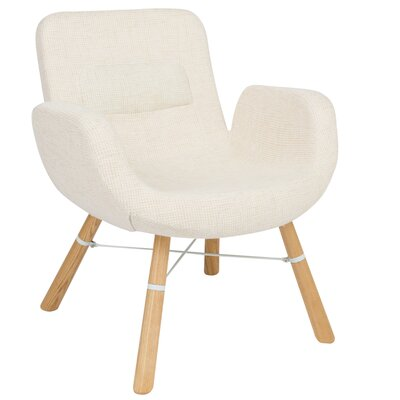 Milwood Block Armchair Color: Beige
