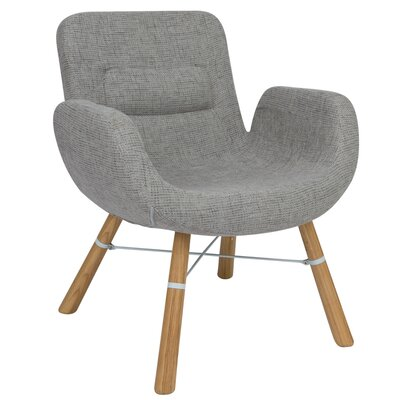 Milwood Block Armchair Color: Gray