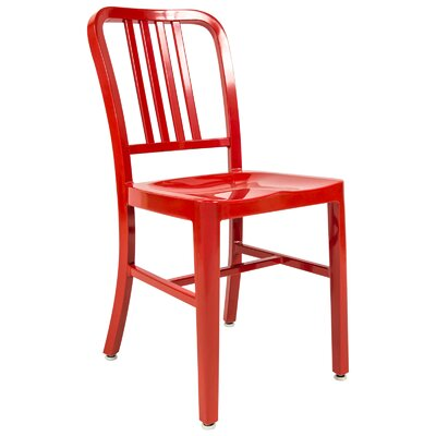 Alton Modern Side Chair Finish: Red