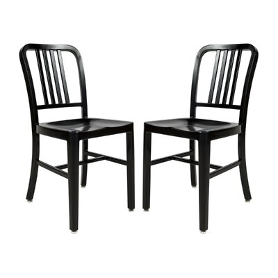 Alton Modern Side Chair Finish: Black
