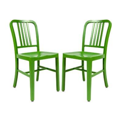 Alton Modern Side Chair Finish: Green