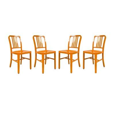 Alton Modern Side Chair Finish: Orange