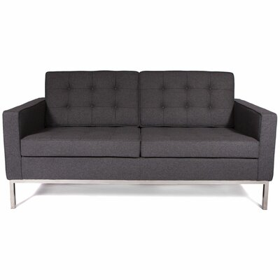 Lorane Loveseat Upholstery: Dark Gray