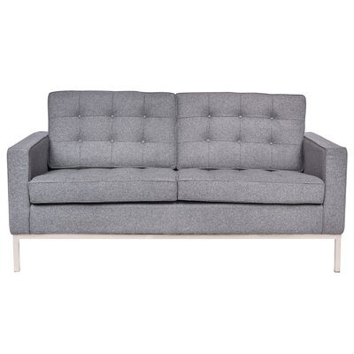 Lorane Loveseat Upholstery: Light Gray