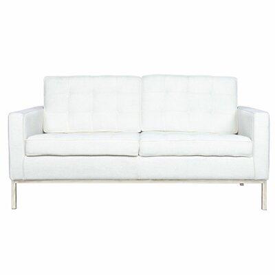 Lorane Loveseat Upholstery: White