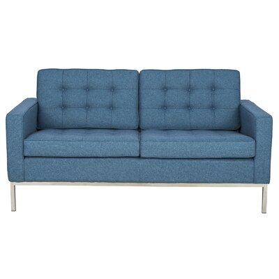 Lorane Loveseat Upholstery: Blue