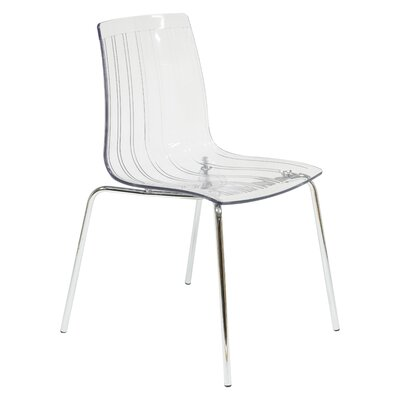 Rachael Stacking Patio Dining Chair Finish: Clear