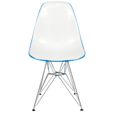 Alethia Dining Chair Color: White/Blue