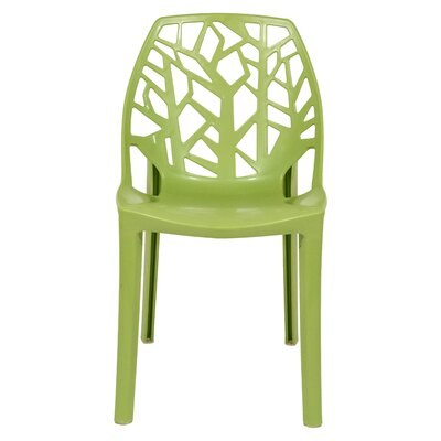 Kimonte Stacking Patio Dining Chair Finish: Solid Green