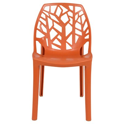 Kimonte Stacking Patio Dining Chair Finish: Solid Orange
