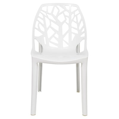 Kimonte Stacking Patio Dining Chair Finish: Solid Whtie