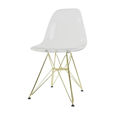 Alethia Patio Dining Chair Finish: Clear/Gold