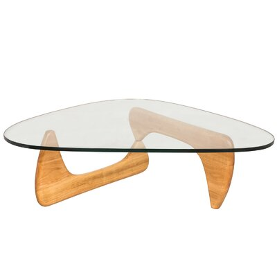 Cali Triangle Coffee Table Base Color: Natural