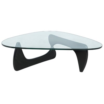 Cali Triangle Coffee Table Base Color: Black