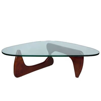 Cali Triangle Coffee Table Base Color: Cherry