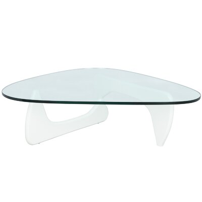 Cali Triangle Coffee Table Base Finish: White
