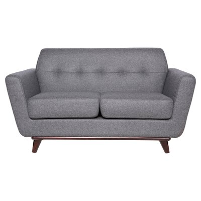 Bureen Modern Tufted Loveseat Upholstery: Light Gray