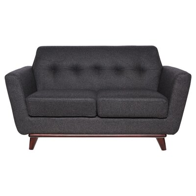 Bureen Modern Tufted Loveseat Upholstery: Dark Gray