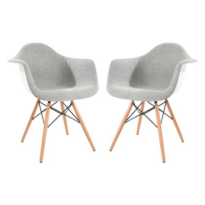 Bullsbrook Eiffel Accent Armchair with Round Arms Upholstery: Gray