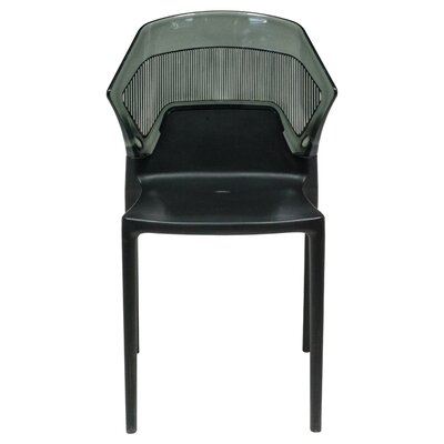 Shaul Two-Tone Stacking Patio Dining Chair