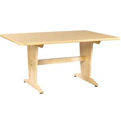 Dining Table Top Finish: Natural Birch Plastic Laminate