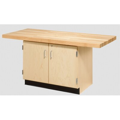 Diversified Woodcrafts Two Station Workbench - Style: Two-Doors, Number of Vises: 0 at Sears.com
