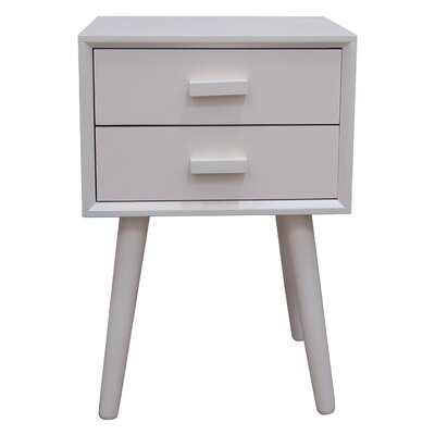 Hartford End Table Color: Cream