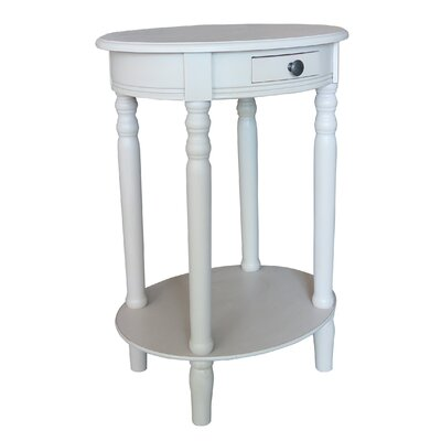 Woodbury End Table Color: Antique White