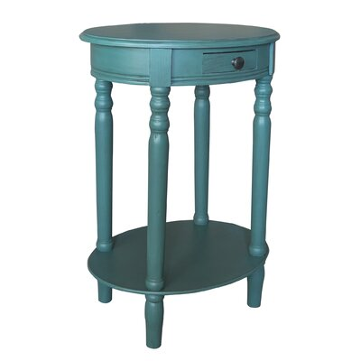 Woodbury End Table Color: Teal