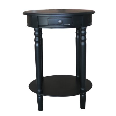 Woodbury End Table Color: Black