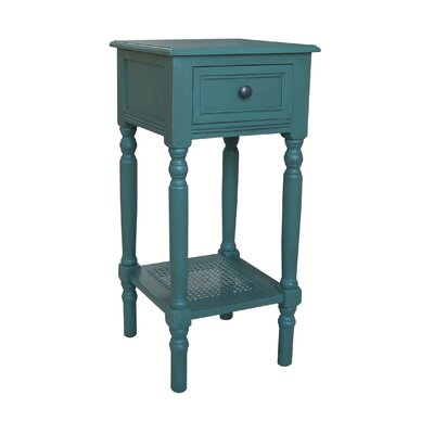 End Table With Storage� Color: Teal