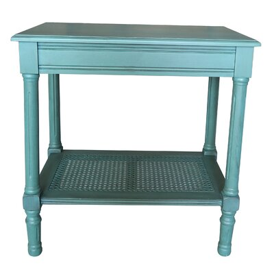 Jamestown End Table Color: Teal