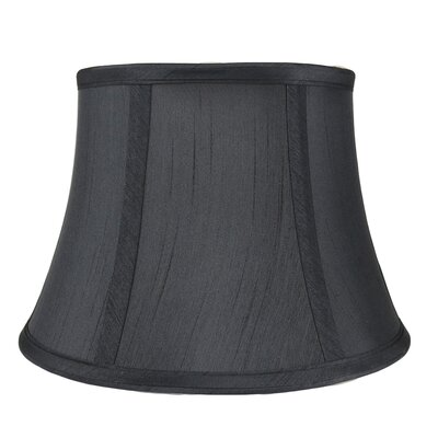 7 Silk Bell Lamp Shade Color: Black