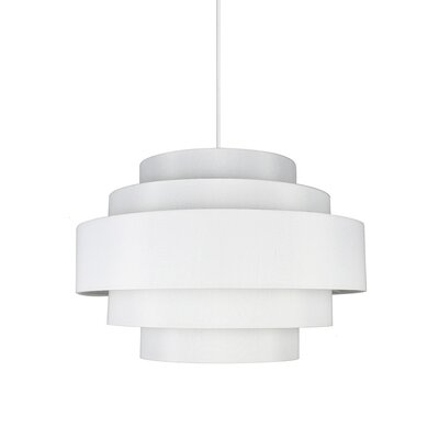 Palladio 5-Tier 1-Light Drum Pendant Shade Color: Off White, Finish: White