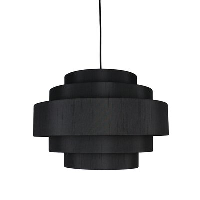 Palladio 5-Tier 1-Light Drum Pendant Shade Color: Black