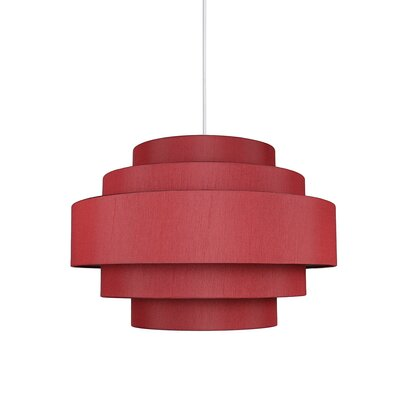 Palladio 5-Tier 1-Light Drum Pendant Shade Color: Burgundy