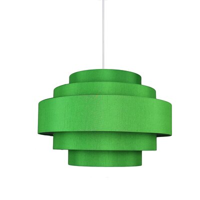 Palladio 5-Tier 1-Light Drum Pendant Shade Color: Kelly Green