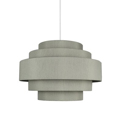 Palladio 5-Tier 1-Light Drum Pendant Shade Color: Moss Gray