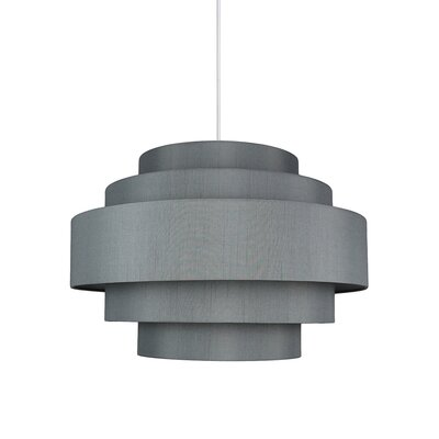 Palladio 5-Tier 1-Light Drum Pendant Shade Color: Gray
