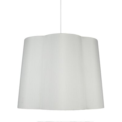 Imani 1-Light Drum Pendant Shade Color: Off White