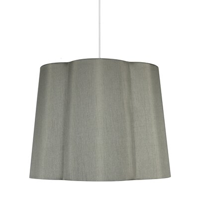 Imani 1-Light Drum Pendant Shade Color: Moss Gray
