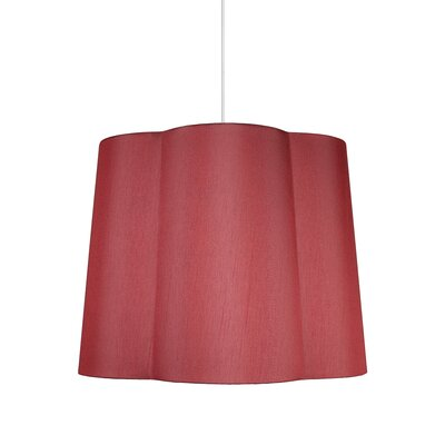 Imani 1-Light Drum Pendant Shade Color: Burgundy