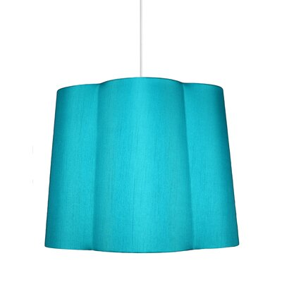 Imani 1-Light Drum Pendant Shade Color: Teal