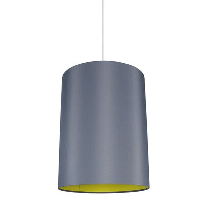 Mona Duo 1-Light Drum Pendant Shade Color: Gray/Yellow Lining