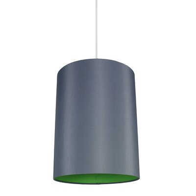 Mona Duo 1-Light Drum Pendant Shade Color: Gray/Green Lining