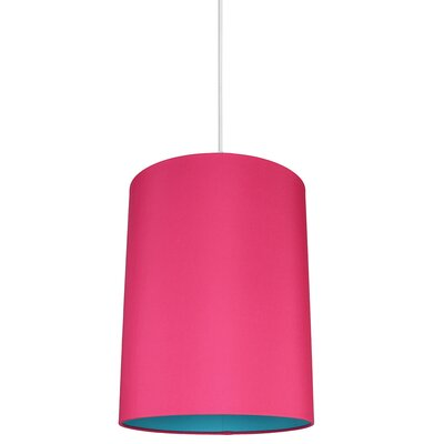 Mona Duo 1-Light Drum Pendant Shade Color: Fuchsia/Teal Lining