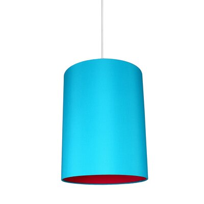 Mona Duo 1-Light Drum Pendant Shade Color: Teal/Fuchsia Lining