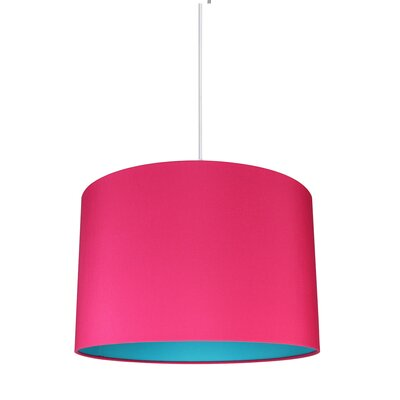 Maria Duo 1-Light Drum Pendant Shade Color: Fuchsia/Teal Lining
